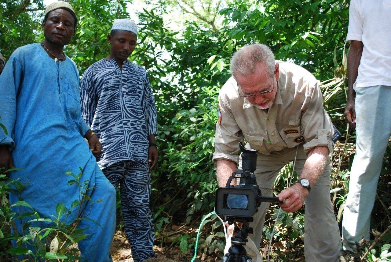 Bill Kizorek in Cameroon on assignment for Lions Club International at the Jimmy Carter Center for River Blindness.