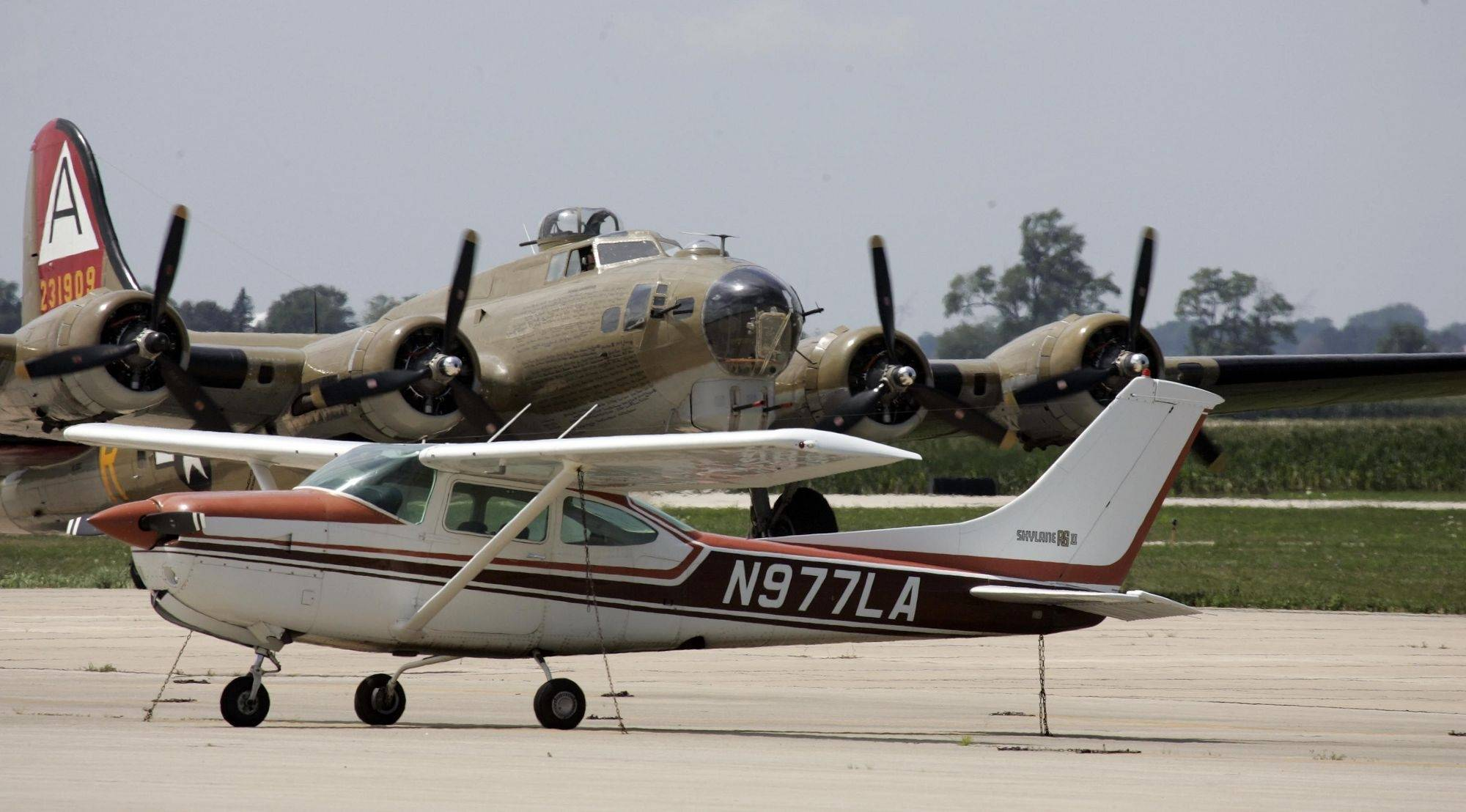 WWII vintage airplanes make a stop in Aurora