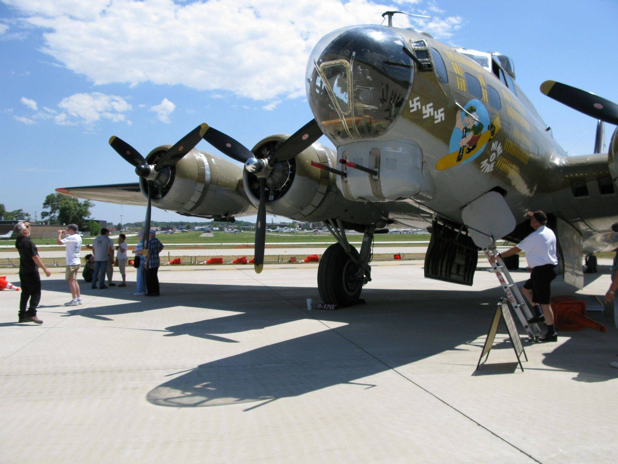 WWII planes at Wheeling airport all weekend