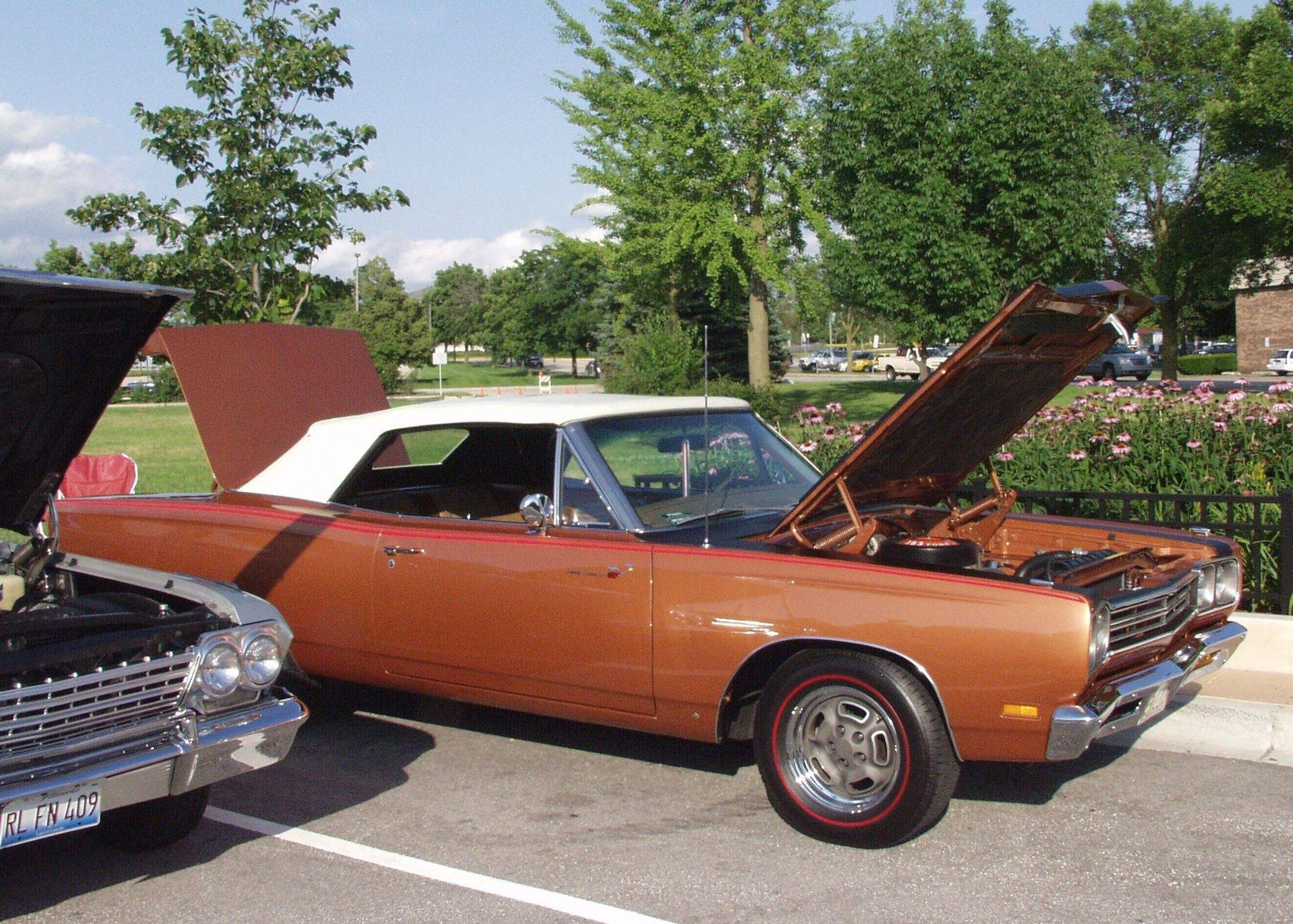 Lisle resident Ed Czyz has loved muscle cars as long as he could drive and bought this 1969 Plymouth Road Runner at auction. He displays the car at cruise nights in Lisle.