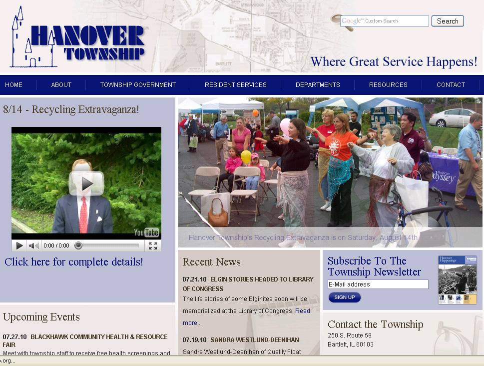 Hanover Township improved its score by 56 points to more than 70 percent on an Illinois Policy institute audit by adding contact information for elected officials, information about meeting dates, agendas and minutes.