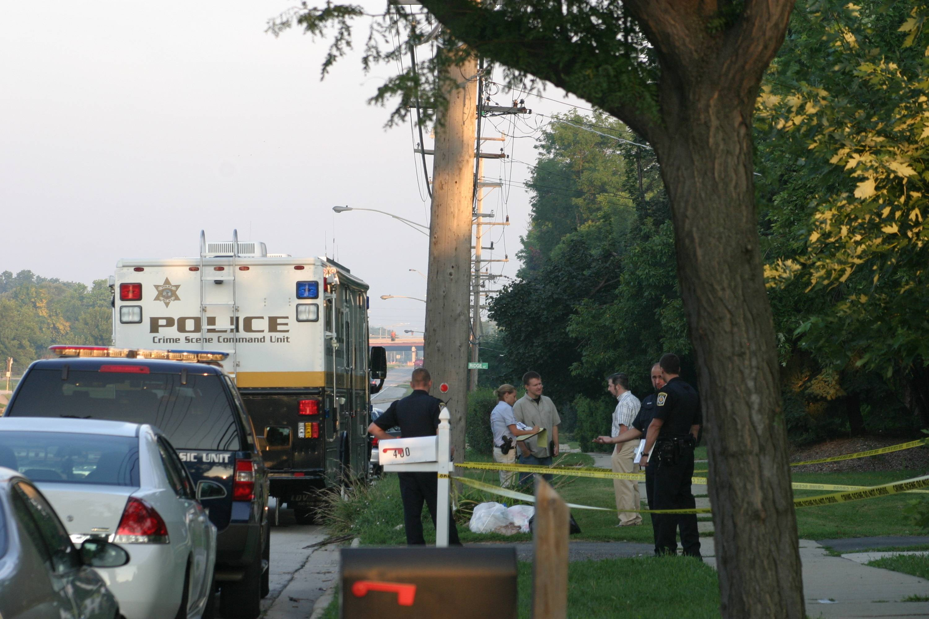 Scene from a standoff early this morning in Arlington Heights.