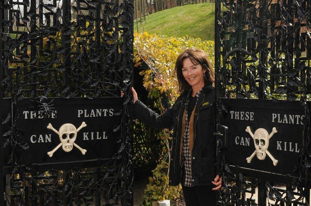 Jane, Duchess of Northumberland, shows her poison garden at Alnwick in England.