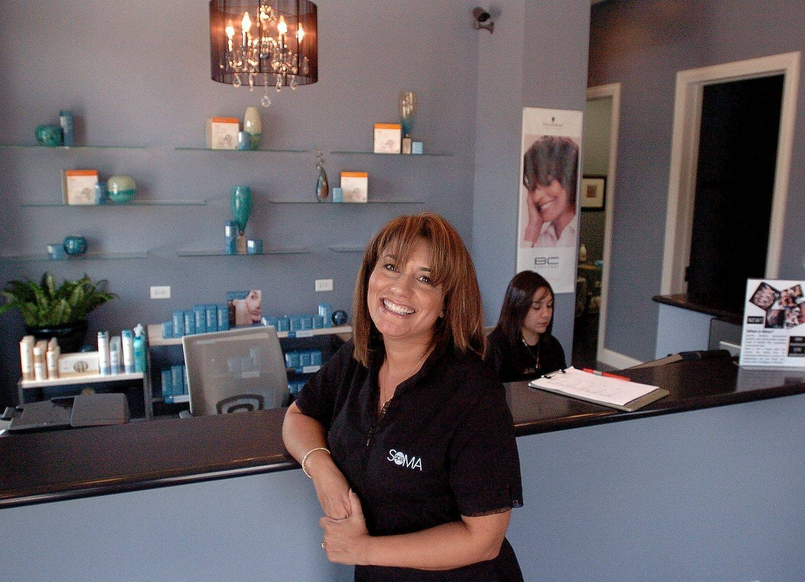 Helen Kakos, owner of the new Spa Soma salon in Lake Zurich, offers an array of trendy services from Brazilian blowouts to Minx manicures.