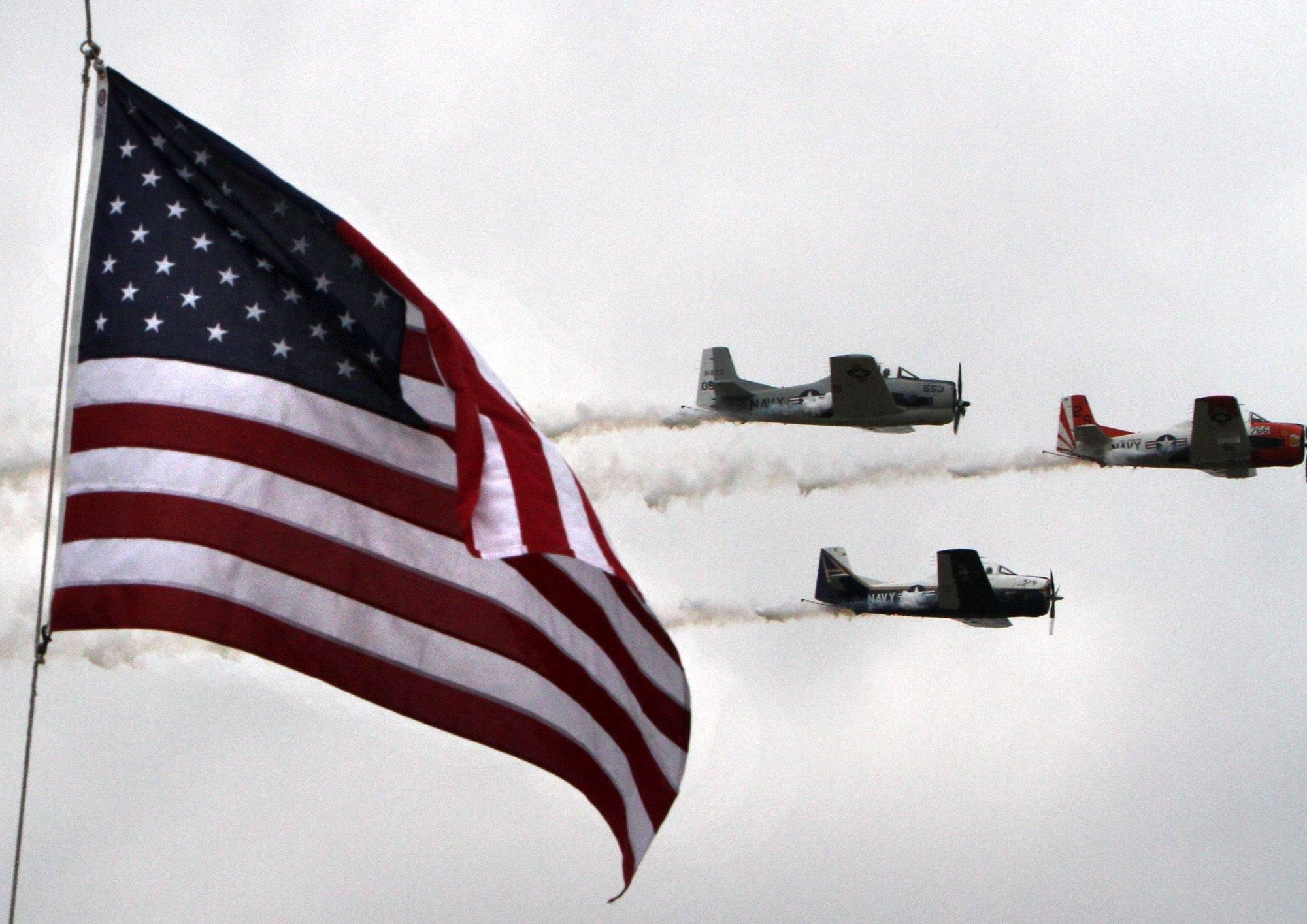 Rain, clouds? No problem for airshow in Lake County