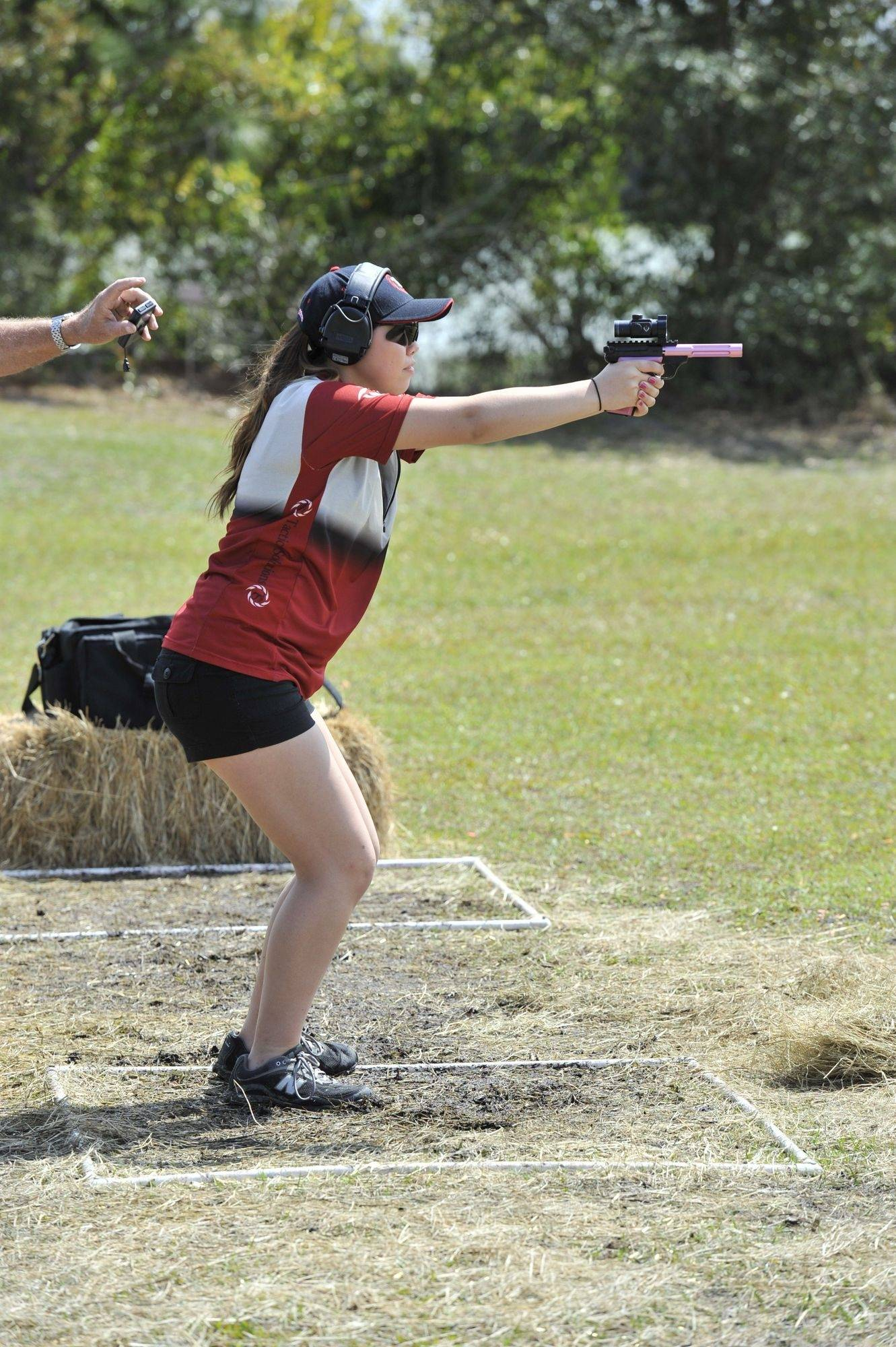Ashley Bolda, 15, of Crystal Lake, recently placed 164th over all in the Steel Challenge World Speed Shooting Championships out of 211 shooters from around the world.