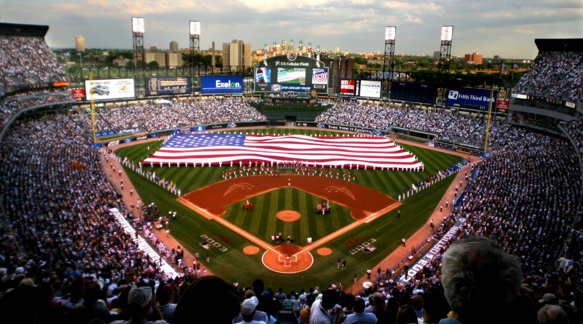 The size of the baseball field at U.S. Cellular Field, above, varies within a few feet on each side from the field at Wrigley. But that's where similarities end, according to baseball fans.