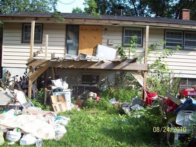 The backyard of Wuerffel's home as it appeared before he began a court-ordered cleanup in recent days.