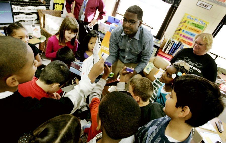 Aurora teacher receives school supply surprise