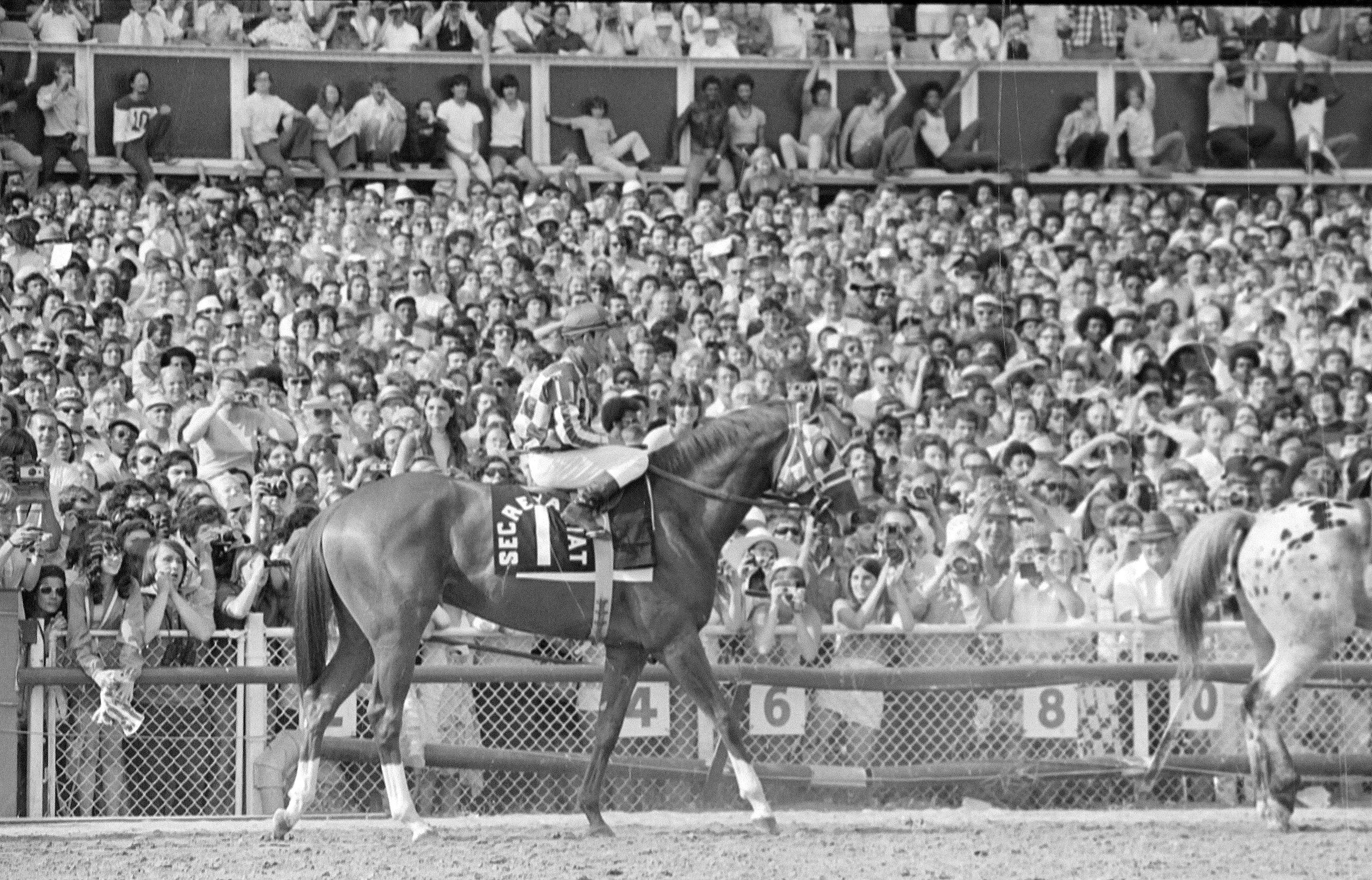 The grandstand was packed on June 30, 1973, when Secretariat ran away in a four-hour invitational race at Arlington Park. The heavy favorite paid $2.10 on a $2.00 bet.