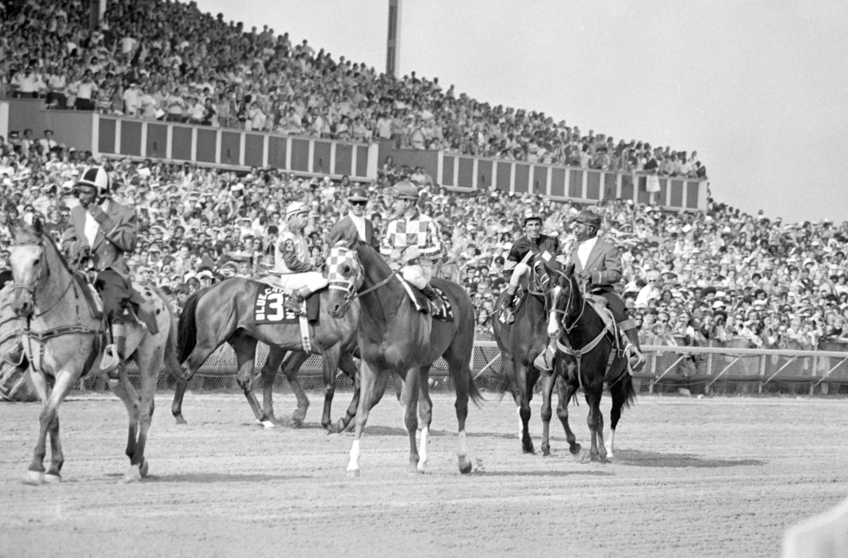 The legendary racehorse Secretariat visits Arlington Park for the Arlington Invitational on June 30, 1973.