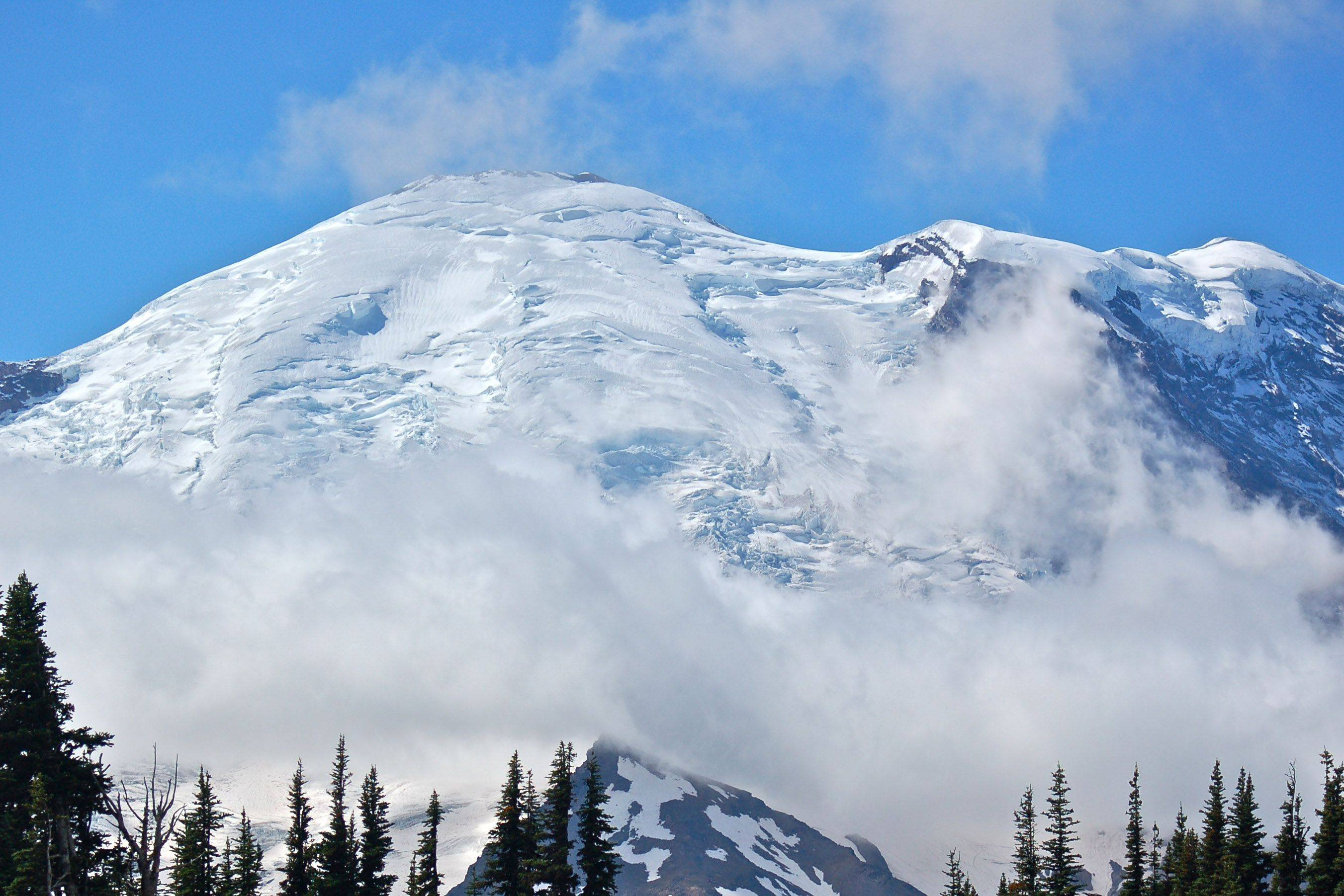 This picture of Mt. Rainier, in Washington, was taken on September 4th from the Sunrise visitor area. We were told a clear day on the mountain at this time of year is rare.
