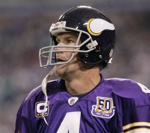 The NFL says it is reviewing allegations involving the Vikings' Brett Favre, who the website Deadspin says sent racy messages and photos to a former sideline reporter while he played for the New York Jets.