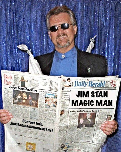 Jim Stanislawski, known as Jim Stan Magic Man, is putting together the seventh annual Jackie's Magic food drive where professional magicians and performers from across the country are donating their time.