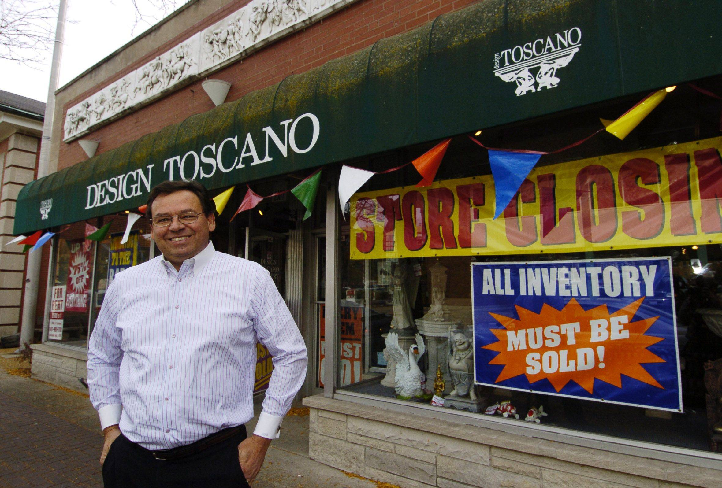 Mike Stopka, owner of Design TOscano, says there is plenty of foot traffic in downtown Arlington Heights but not enough buyers.