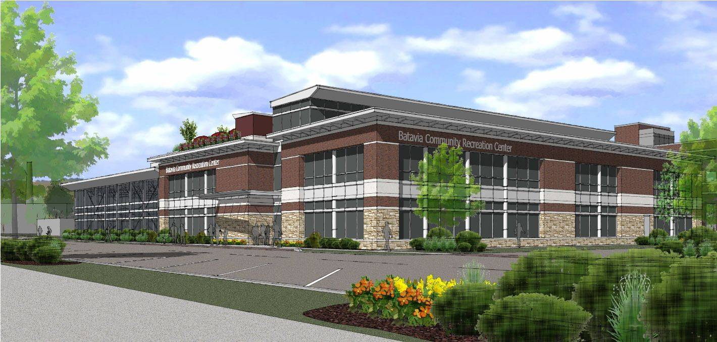 An artist's rendering of the proposed recreation center in Batavia.