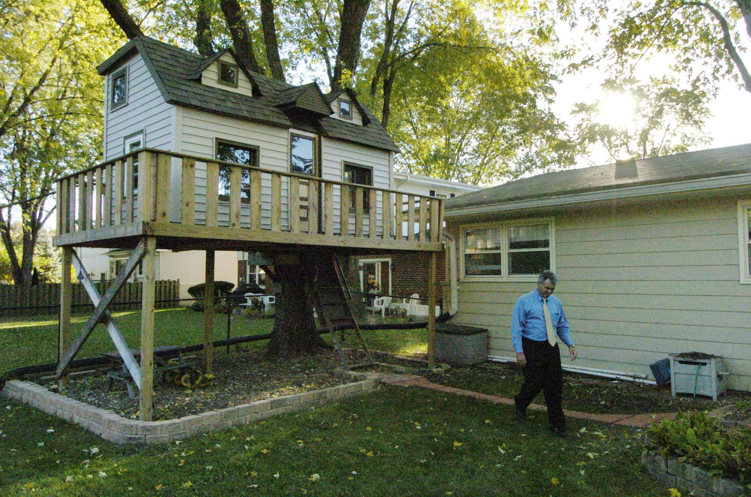Joe Belmonte Built A Backyard Treehouse For His Son At Their Arlington  Heights Home, But