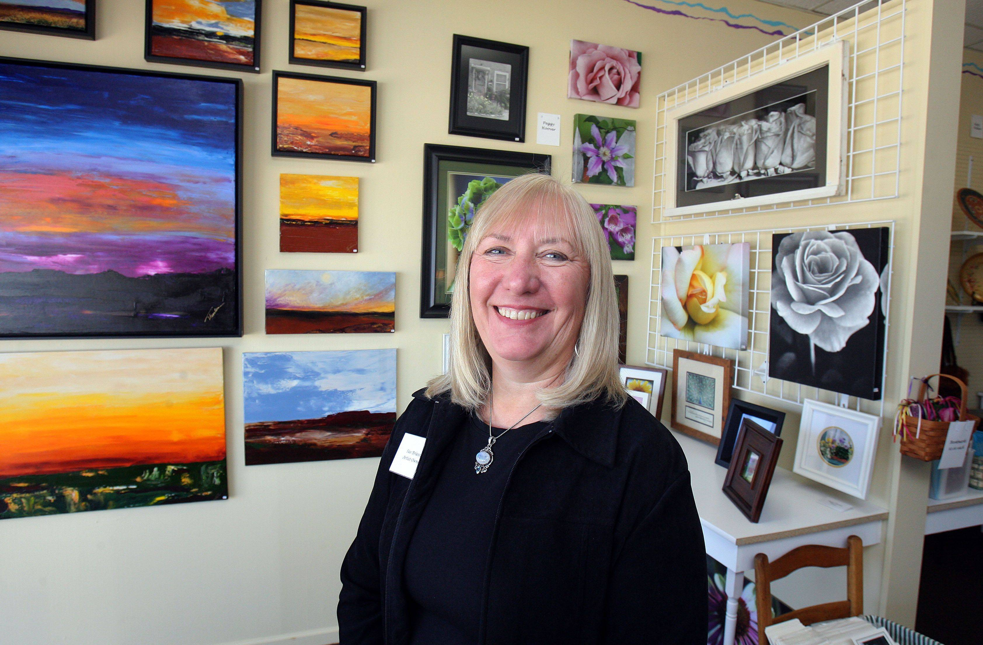 Sue Briesch, artist and owner of Wise Women Gallery in Lake Zurich, features various artwork and gifts.