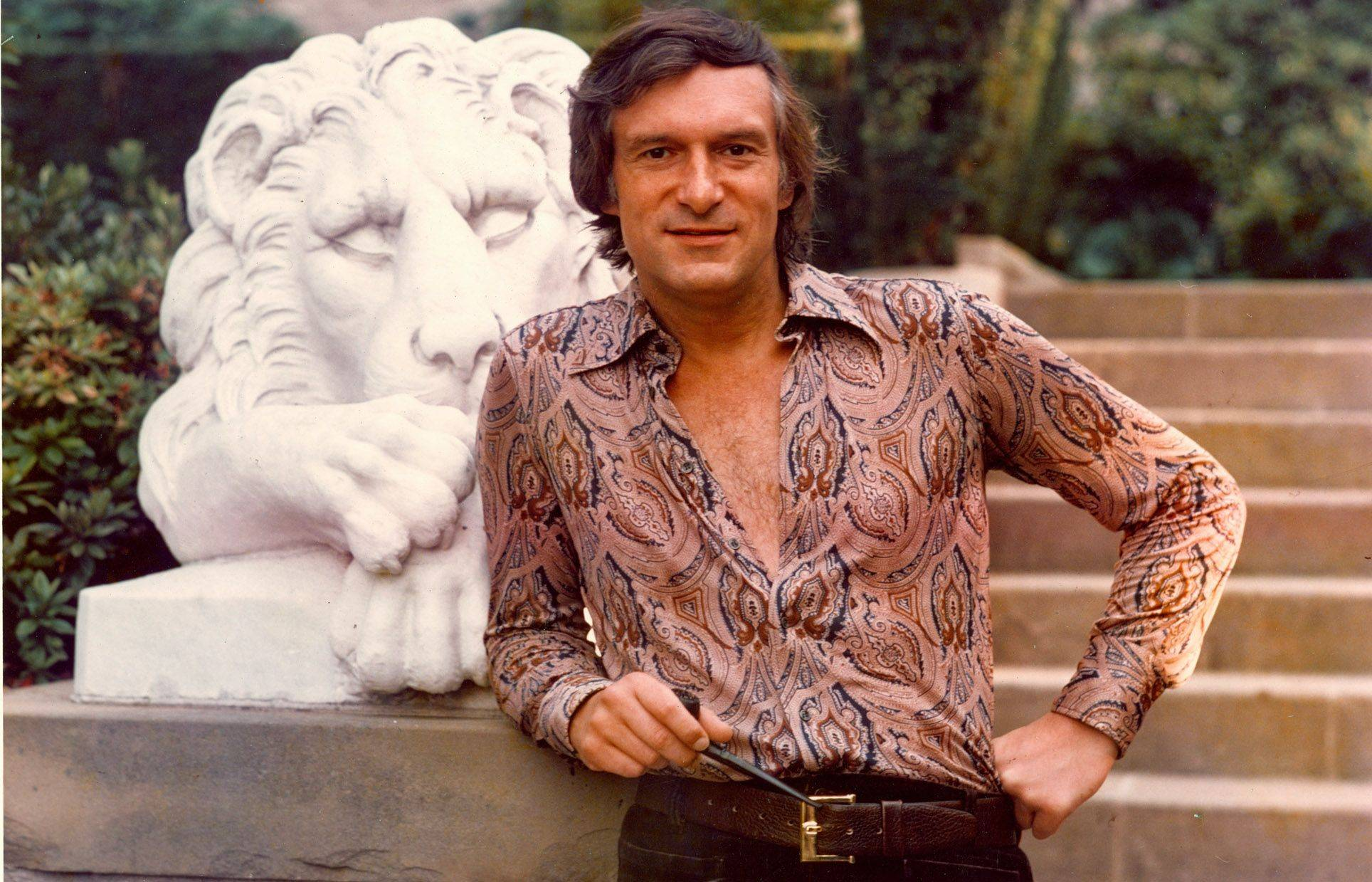 A new documentary looks at the controversial contributions of Hugh Hefner, photographed here at the Playboy mansion in the early 1970s.