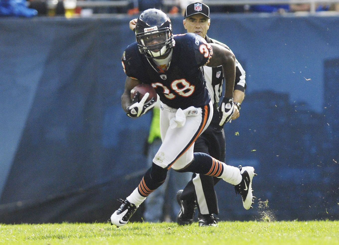 Chicago Bears safety Danieal Manning returns an interception against the Washington Redskins Sunday at Soldier Field.