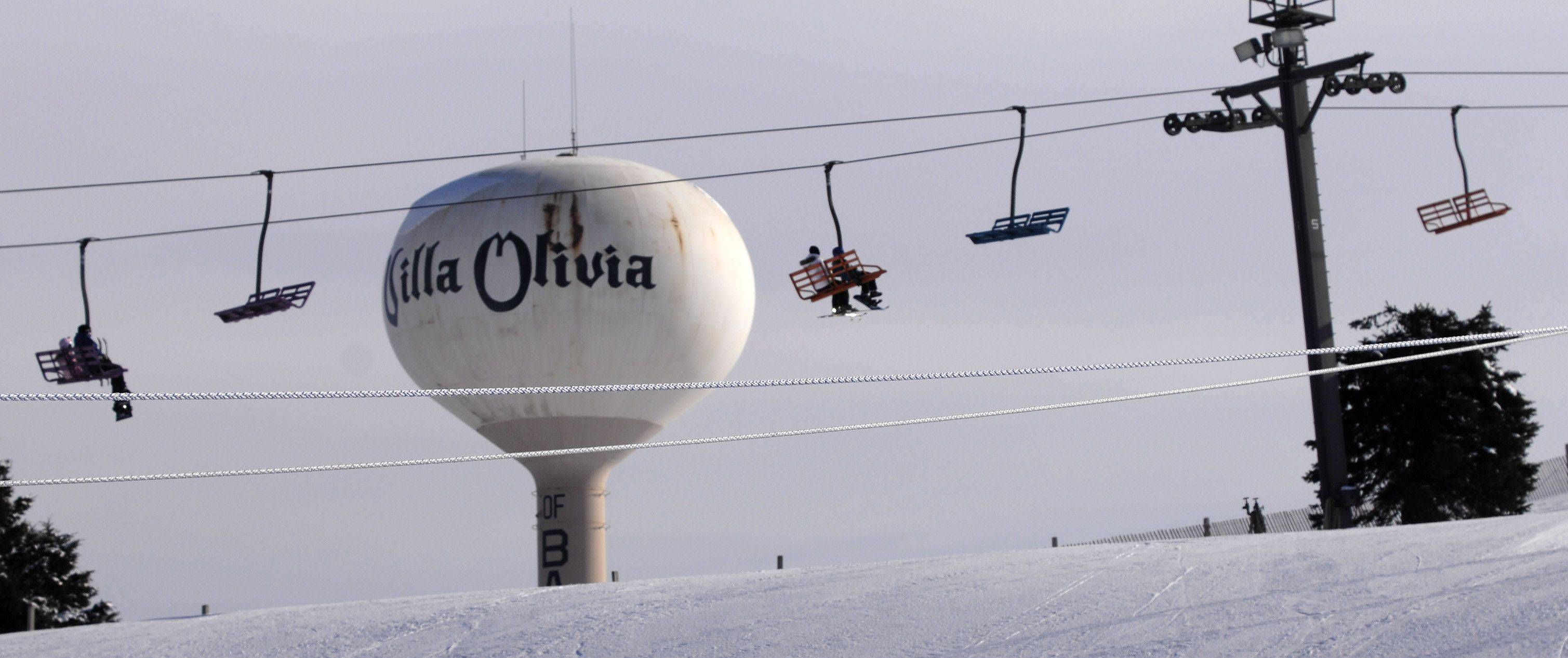 Skiing, snow boarding and tubing at Villa Olivia Country Club could soon be park district activities if voters next week support an $18 million bond issue to help the district buy the 138-acre site.