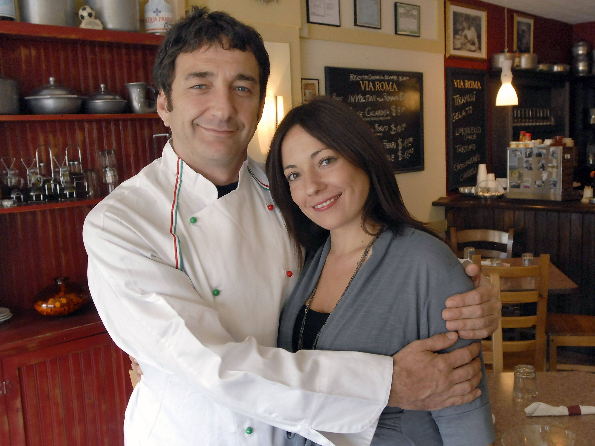 Chef Alessandro Forti and his wife Lisa Leslie serve up Italian fare at Via Roma in Des Plaines.