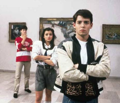 "Matthew Broderick, Mia Sara and Alan Ruck at the Chicago Art Institute in the 1986 neo-classic ""Ferris Bueller's Day Off."