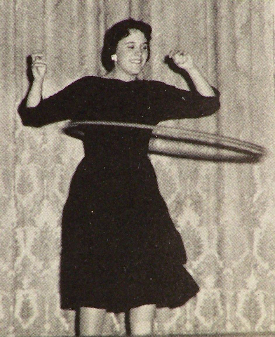 A member of the Batavia High School class of 1959 tackles the Hula-Hoop.