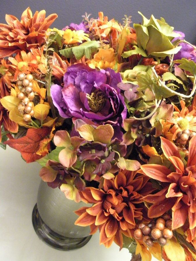 If purple and orange tones look this fantastic in nature, try them in your home, says Andrea Vollf, an interior designer from Schaumburg.