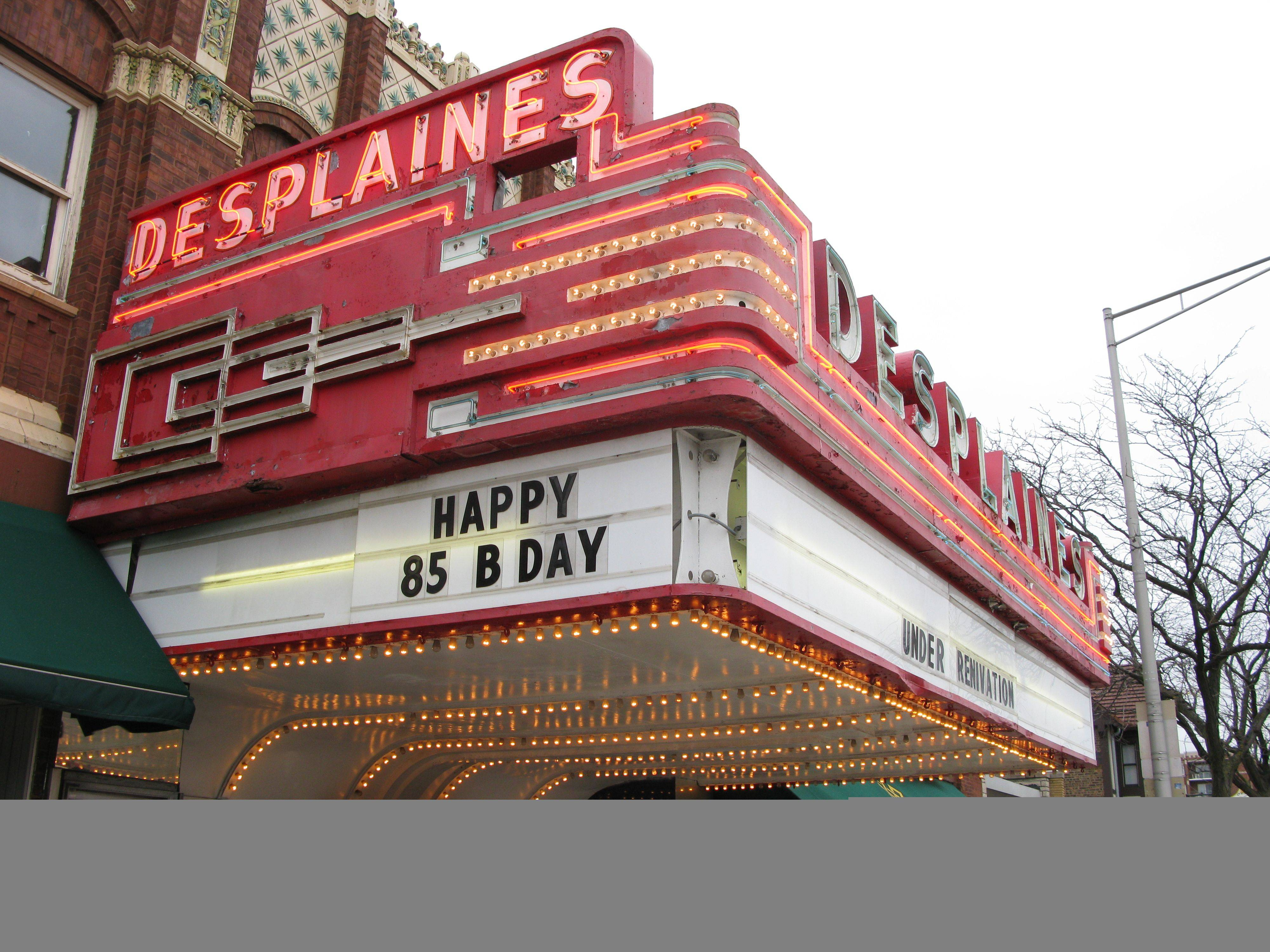 MADHU KRISHNAMURTHY/mkrishnamurthy@dailyherald.comThe historic downtown Des Plaines Theater celebrates its 85th anniversary this year. The theater is being restored and there will be celebration events throughout the coming year.
