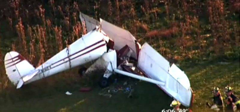 A small plane crashed, killing the 66-year-old pilot on Monday afternoon at Schaumburg Airport.