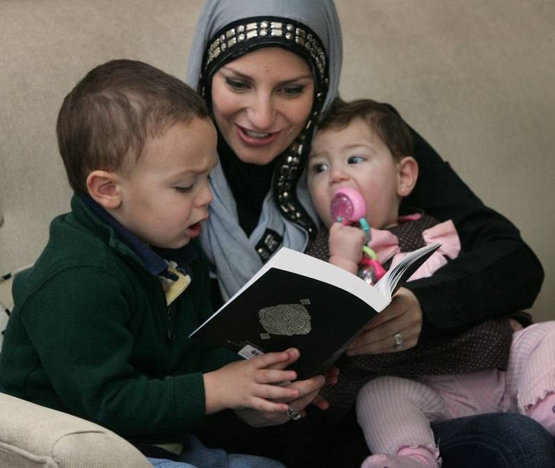 Image result for muslim mom and children