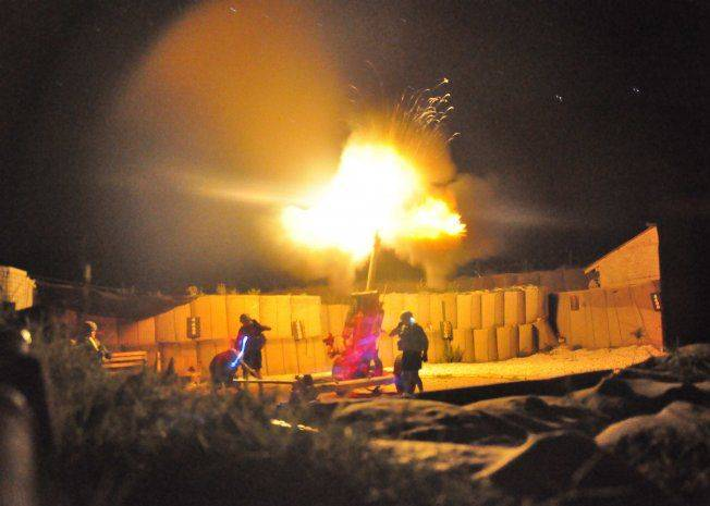This was taken during a night fire exercise in Afghanistan, using available light.
