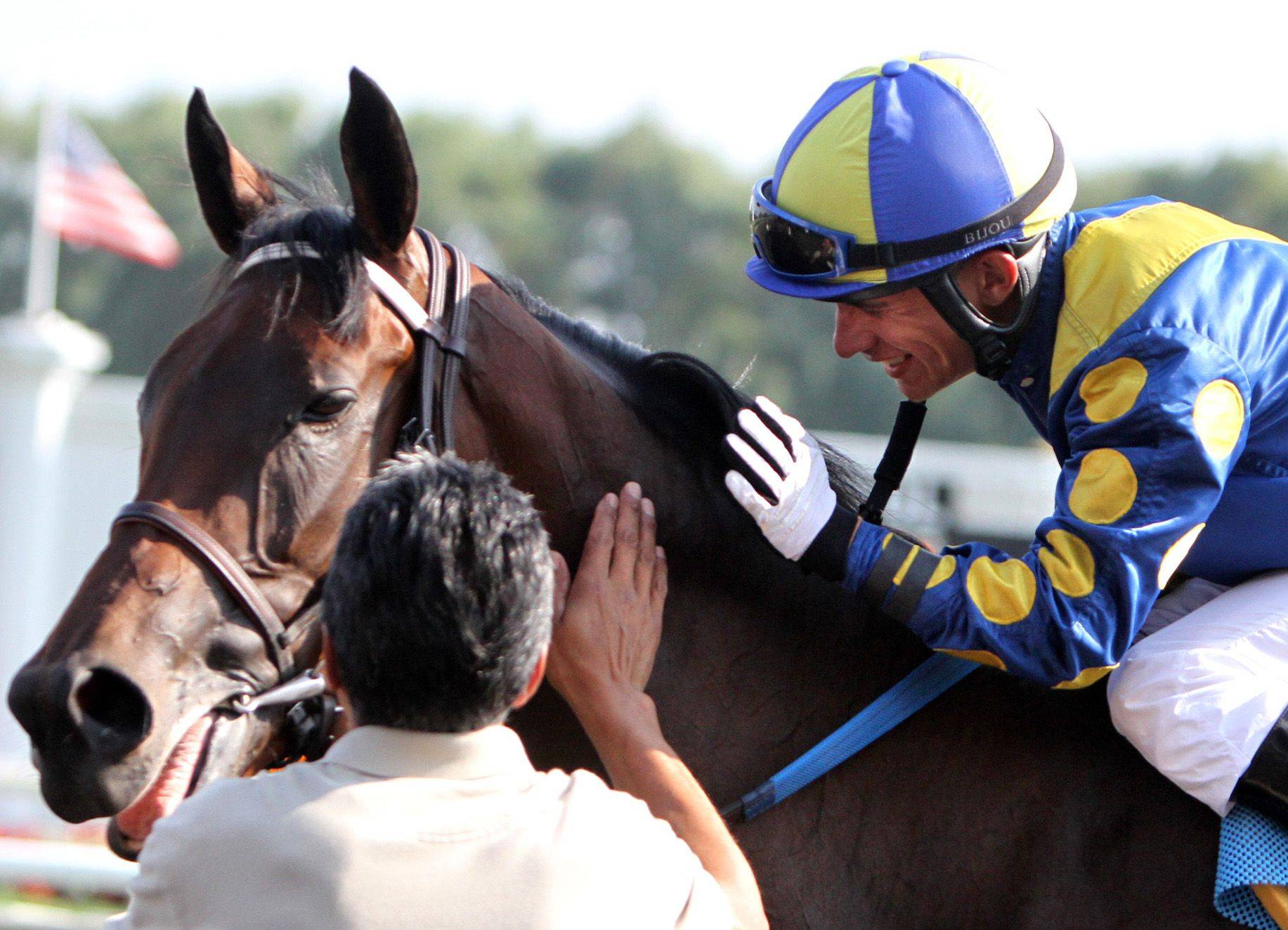 Éclair de Lune, the 4-year-old winner of the Beverly D. in August at Arlington Park, will carry owner Richard Duchossois' colors in the Breeders' Cup Filly & Mare Turf race Friday at Churchill Downs. It is the first time Duchossois has had a horse race in the Breeders' Cup, and his horse is a 15-1 shot.