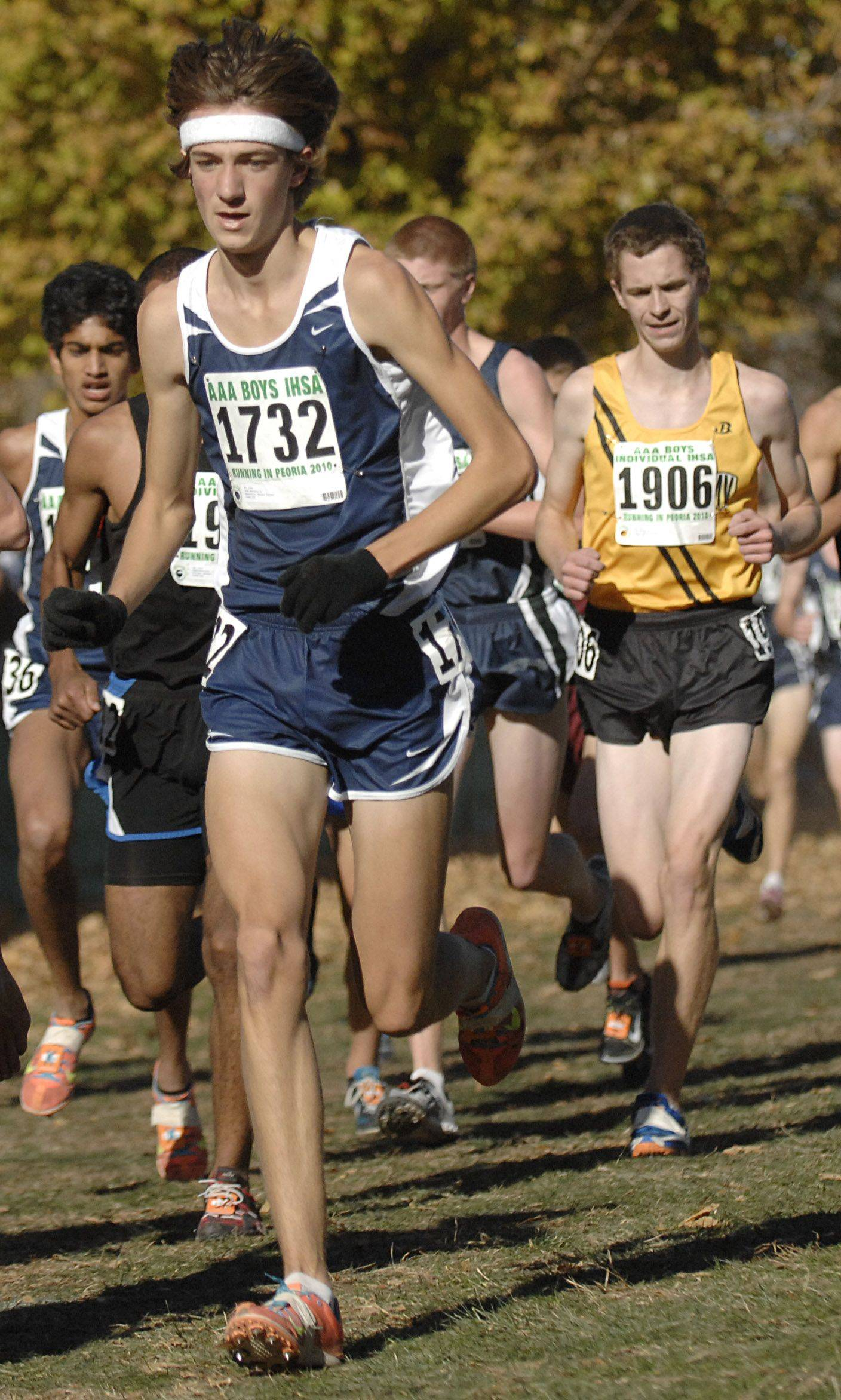 Neuqua Valley's Josh Antonson in the 3A class of the state cross country meet at Detweiller Park in Peoria on Saturday, November 6.