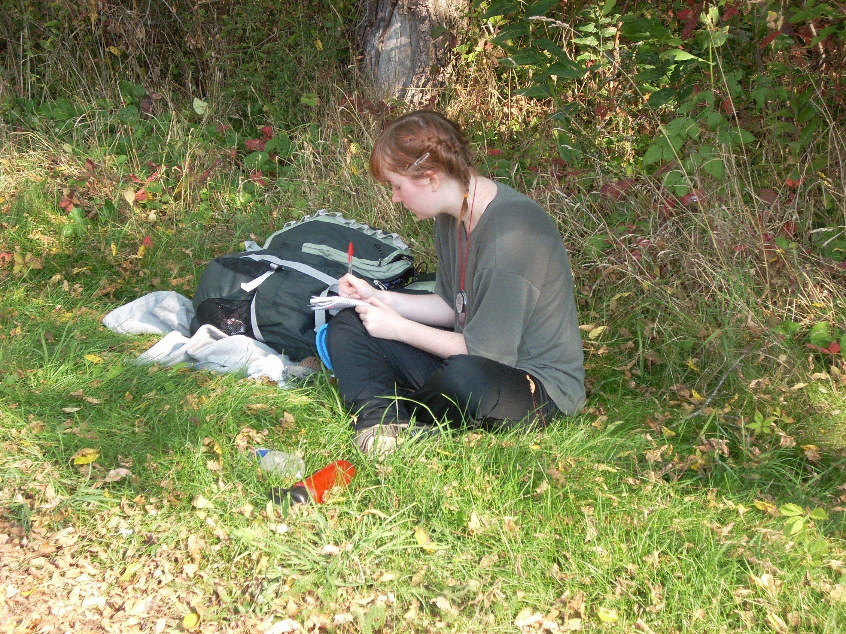 "Neuqua Valley High School graduate Antinette ""Toni"" Keller works in a park during an adventure studies class trip."