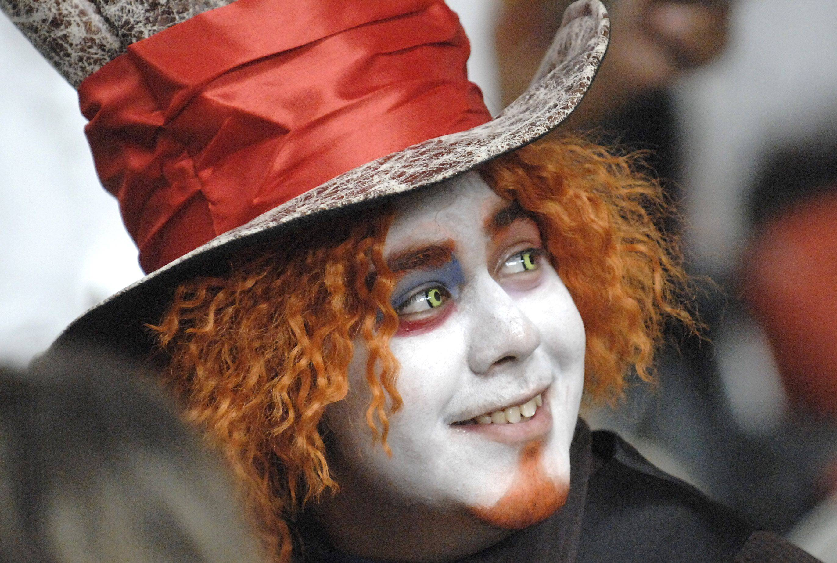 Noel Leon of Carpentersville dressed as the Mad Hatter while attending Spring Hill Mall's Fall Family Festival in West Dundee with on Saturday. Leon used to come to the Halloween events at the mall when he was a kid and now comes back with his sister and nieces.