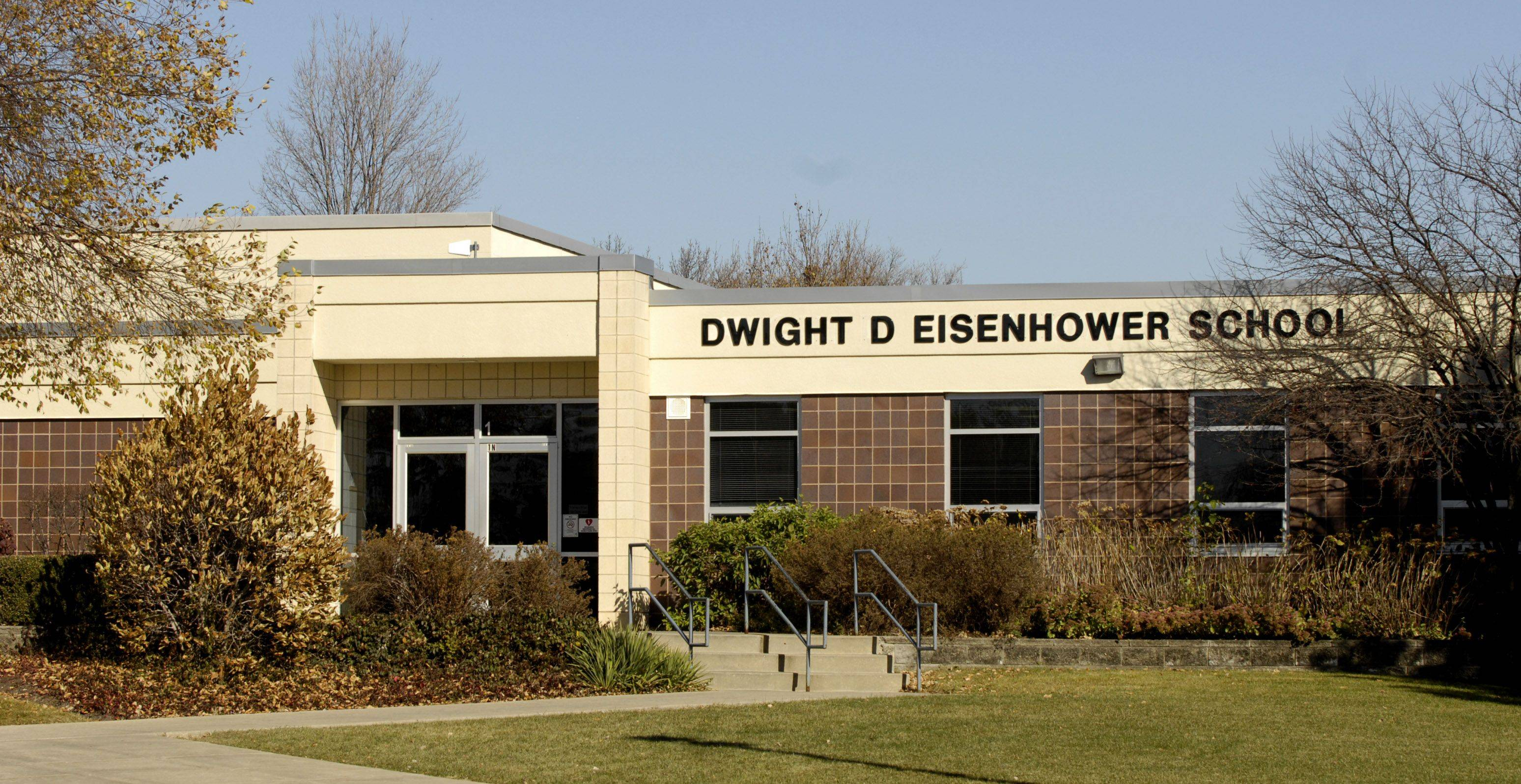 Dwight D. Eisenhower School is separated from the other schools by several blocks.