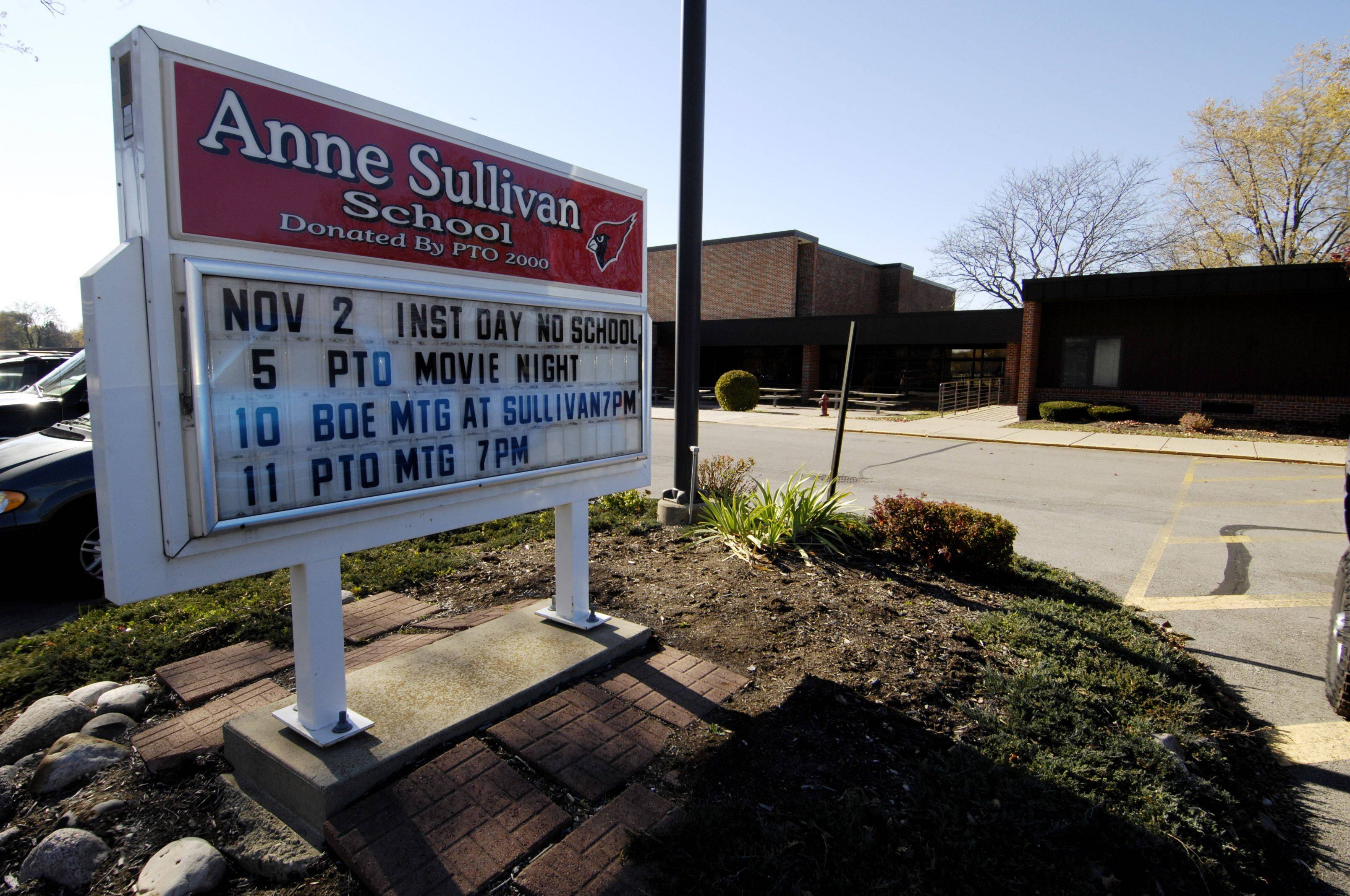 Anne Sullivan and Betsy Ross schools are connected by a hallway, and some parents wonder if making it one big school would save significant administrative costs.