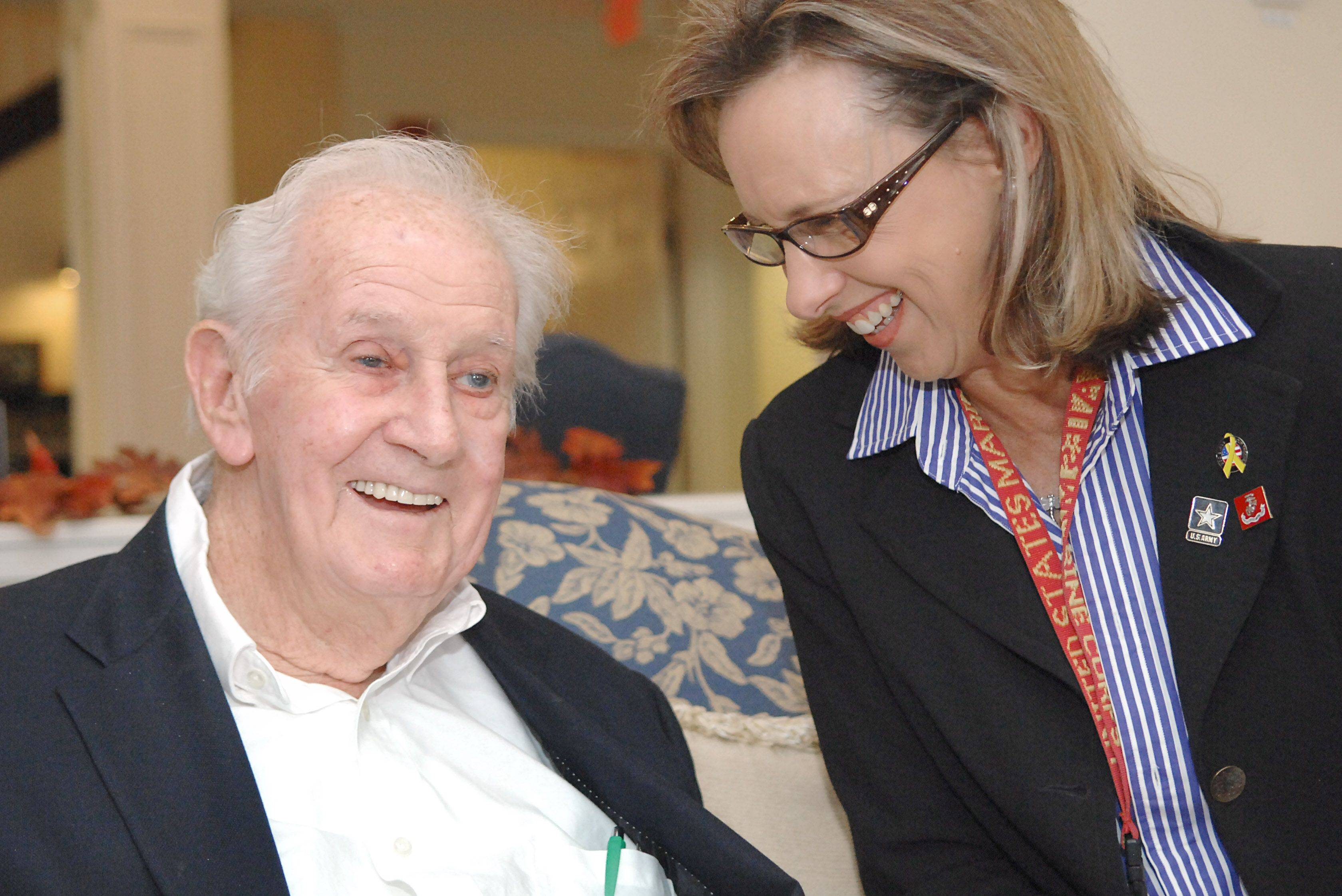 Suburban woman befriends World War II veteran after reading profile on him