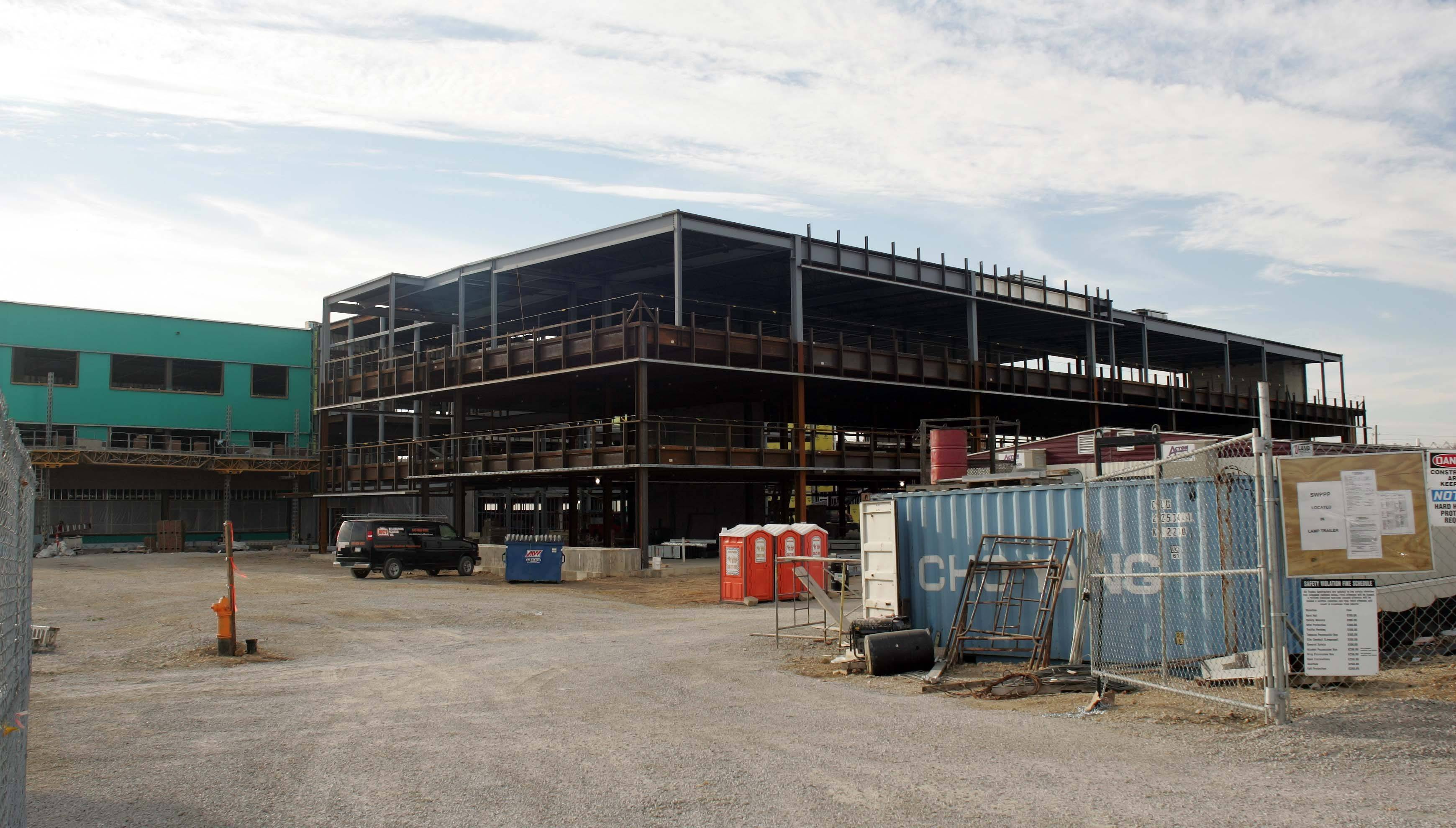 Elgin Community College is midway through a construction and renovation project that will create new study spaces, a new library and a new health careers center at the college's campus on the south end of Elgin.