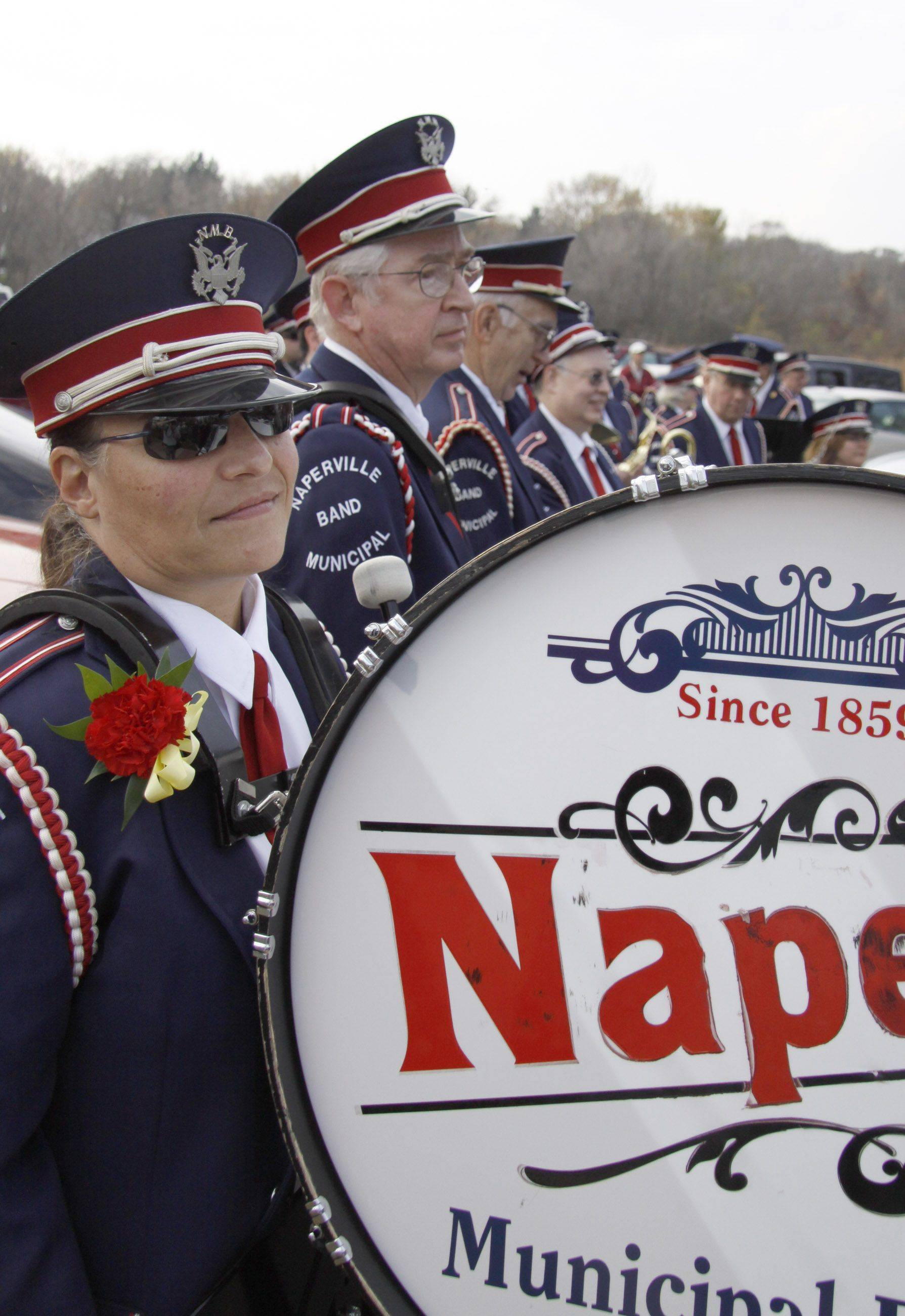 The Naperville Municipal Band played during Veterans Day Thursday at Veterans Park in Naperville.