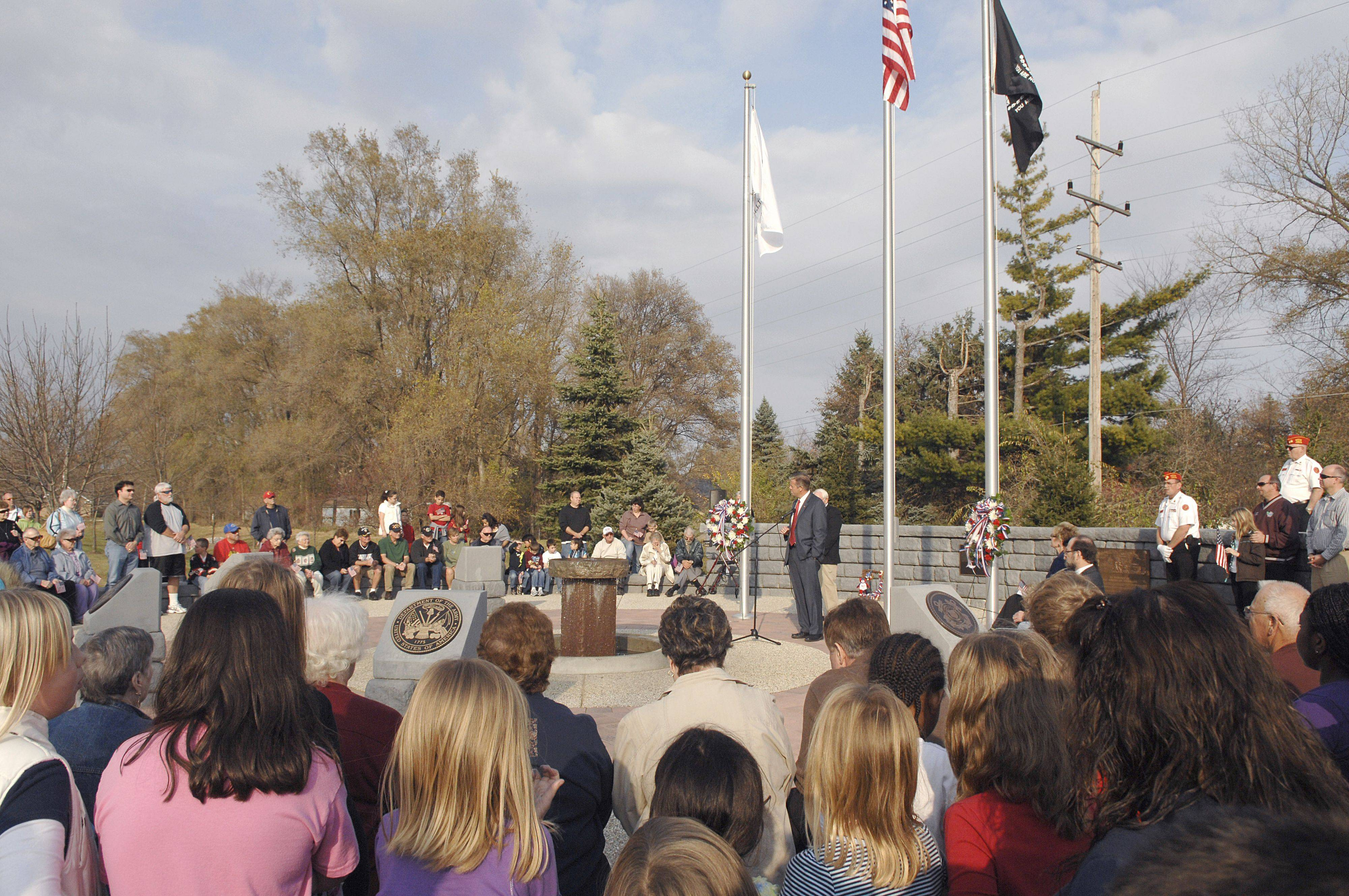Laura Stoecker/lstoecker@dailyherald.comMany were in attendance for the Veterans Day ceremony in North Aurora on Thursday, November 11.