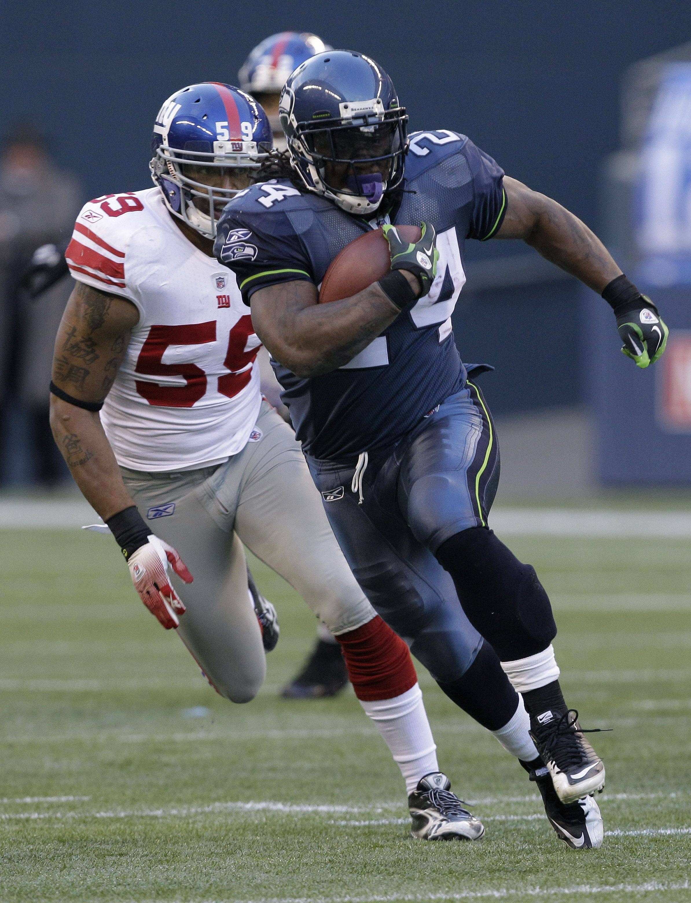 Seattle Seahawks Marshawn Lynch is a good bet to roll up the rushing yards against Arizona this week, says John Dietz.