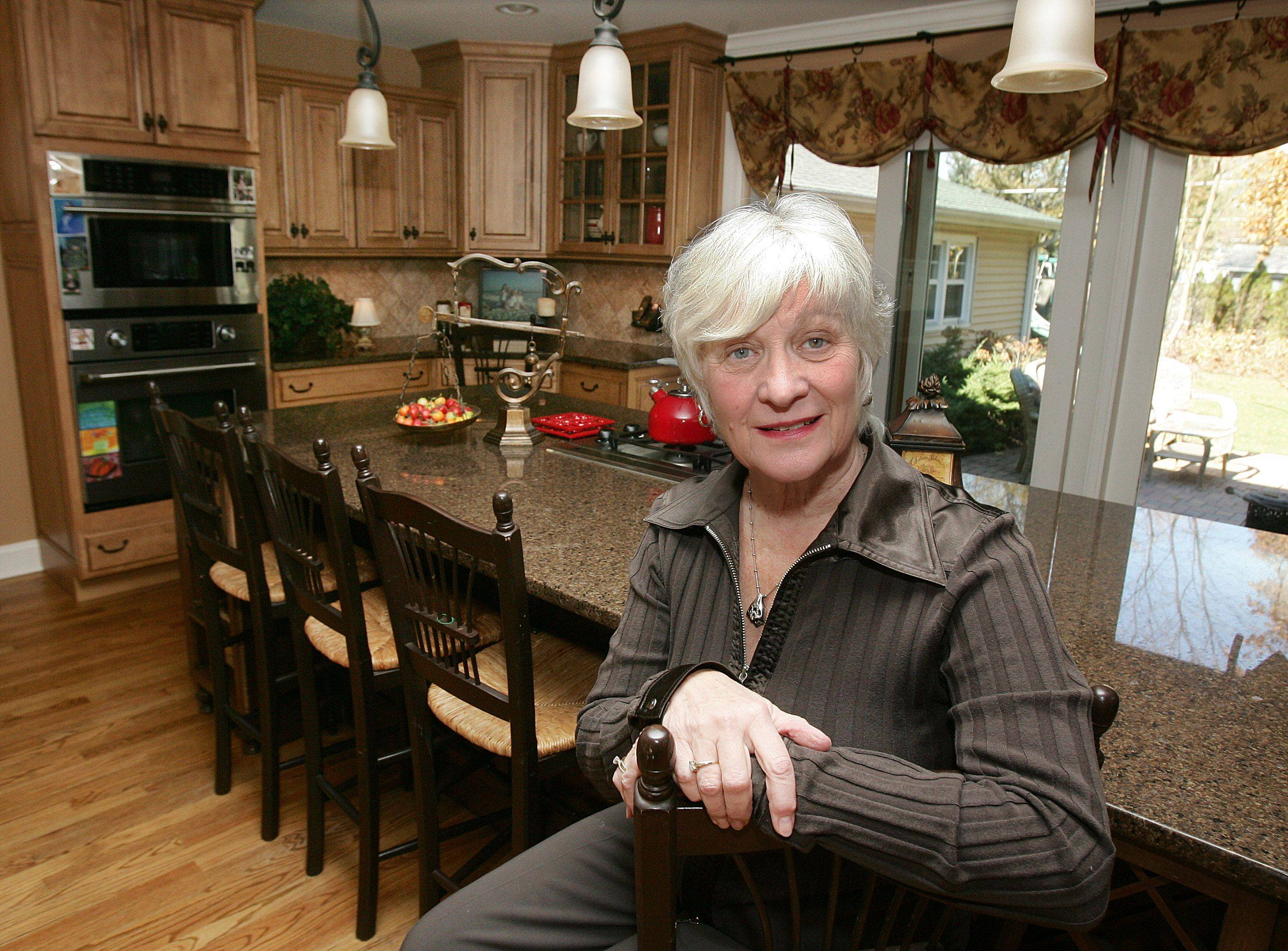 The kitchen of Libertyville home decorated by Pam Rawles of Designs In Context.