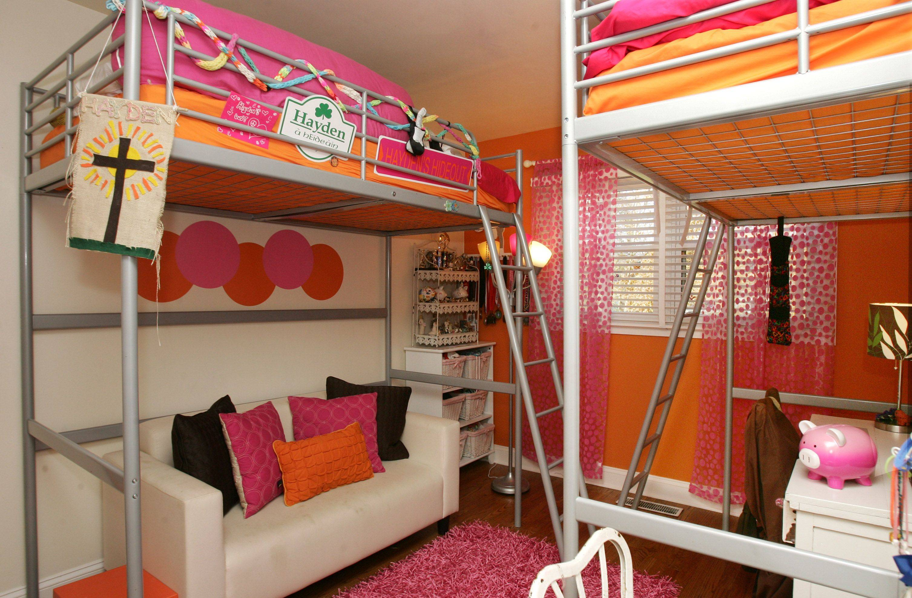Girls bedroom at the Libertyville home decorated by Pam Rawles of Designs In Context.