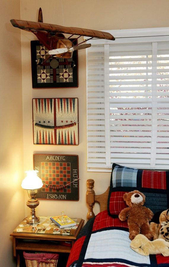 Boy's bedroom at Libertyville home decorated by Pam Rawles of Designs In Context.
