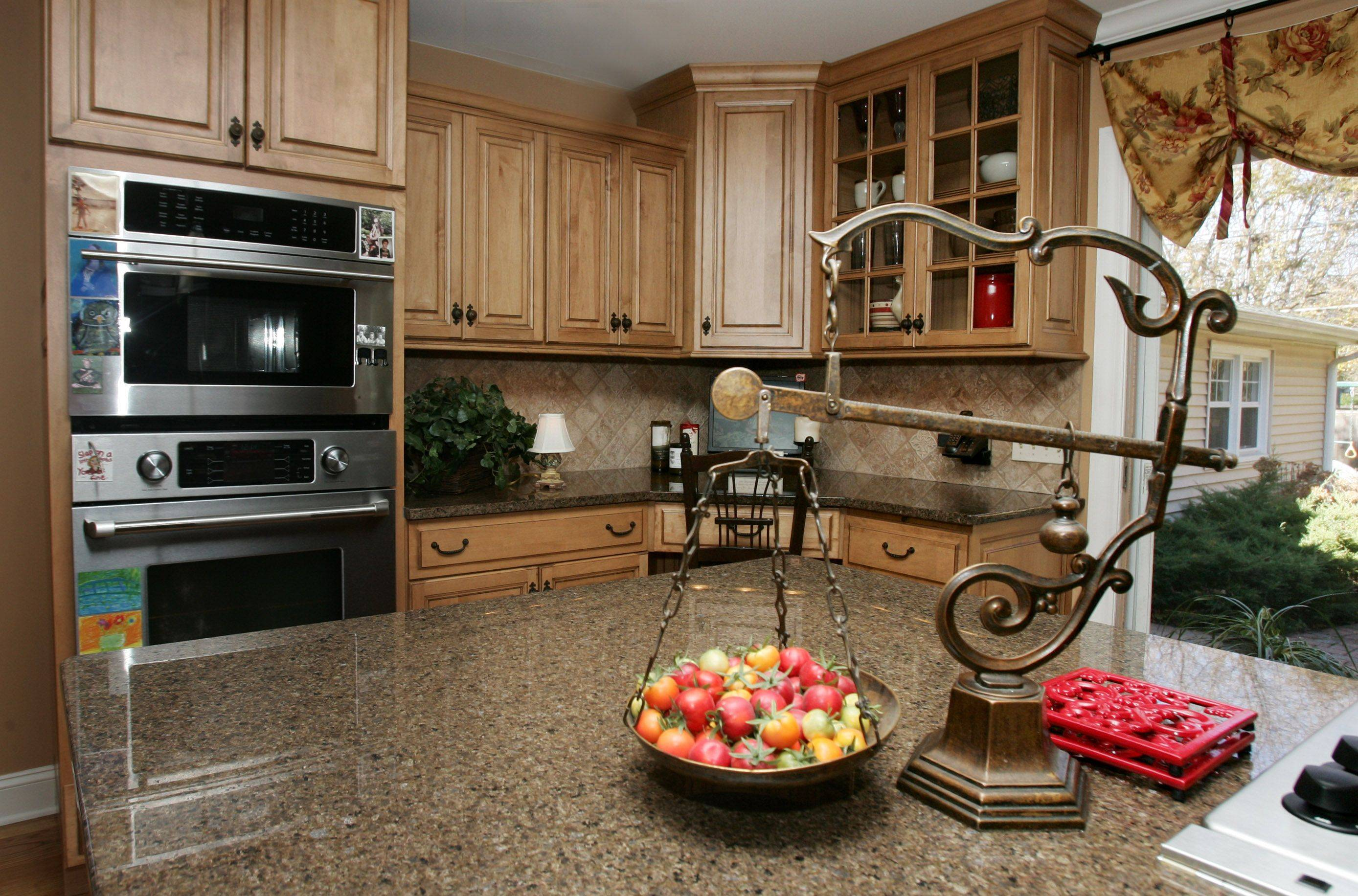Kitchen in the Libertyville home decorated by Pam Rawles of Designs In Context.