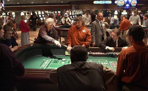 Patrons gambling at the Empress Casino in Joliet in 2003,
