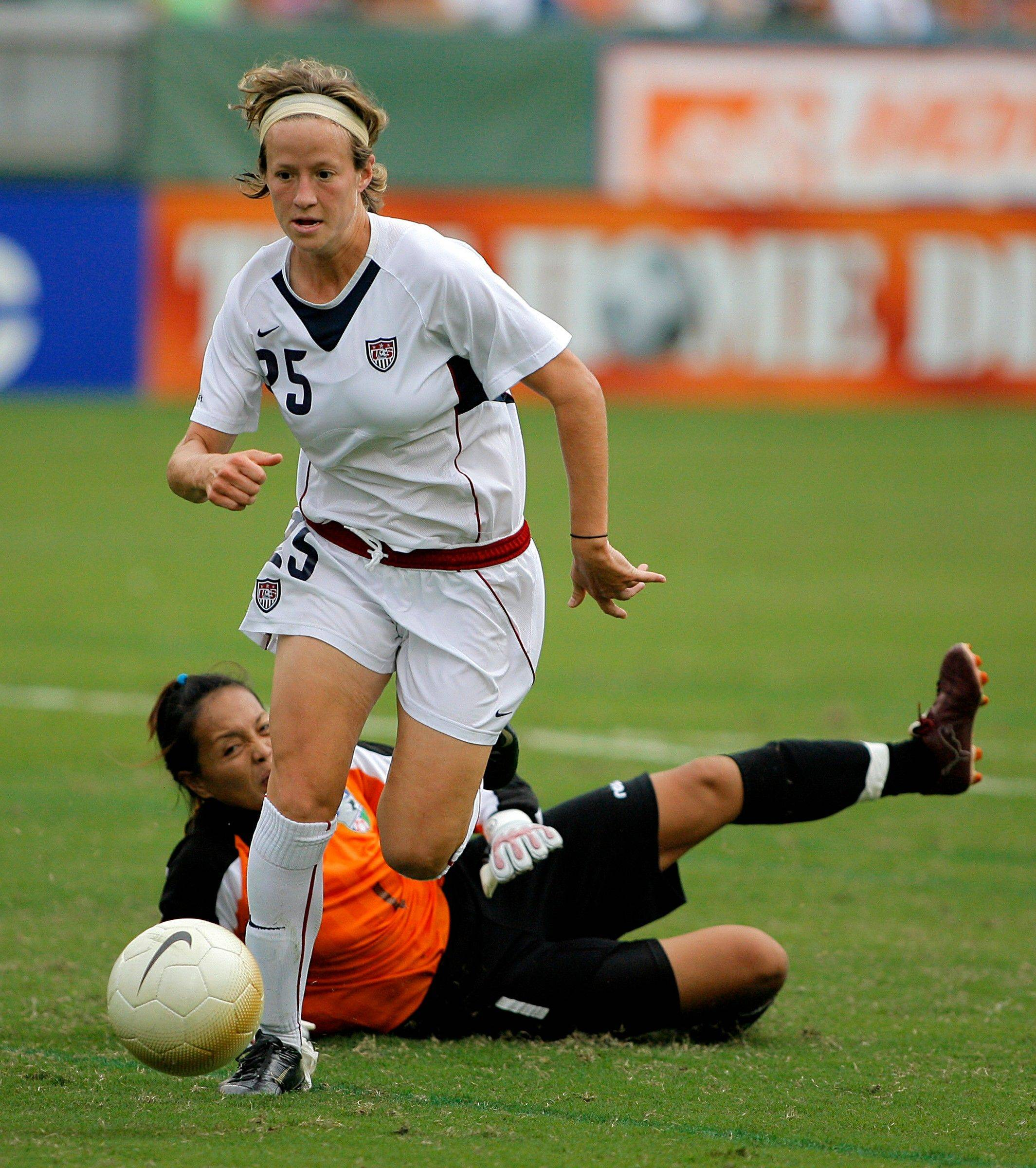 Megan Rapinoe, here getting past a Chinese Taipei goalkeeper in a 2006 match, has been added to the U.S. National Team headed to Italy. The Red Stars midfielder will be joined by Red Stars goalkeeper Jullian Loyden on the national squad.